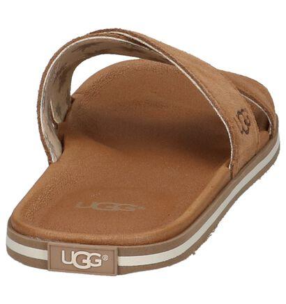 Zwarte Sportieve Slippers UGG Beach Slide, Cognac, pdp