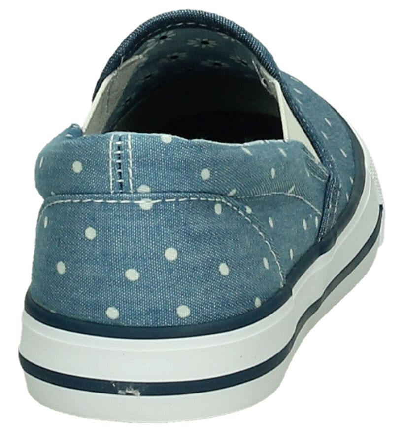 Aloha Chaussures slip-on en Bleu en textile (195806)