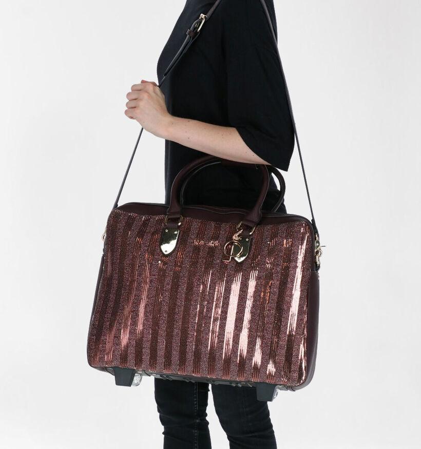 Olivia Lauren Serenity Sac à roulettes en Bordeaux en simili cuir (283519)