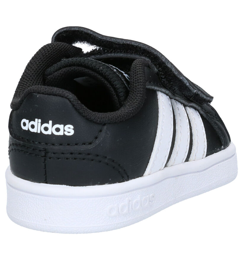 adidas Grand Court Sneakers Zwart in kunstleer (252545)