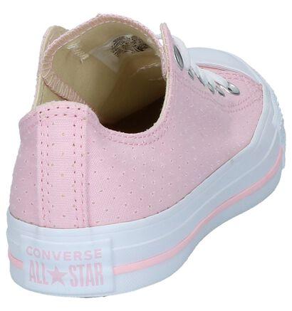 Lage Sportieve Sneakers Zwart Converse All Star Core Ox, Roze, pdp