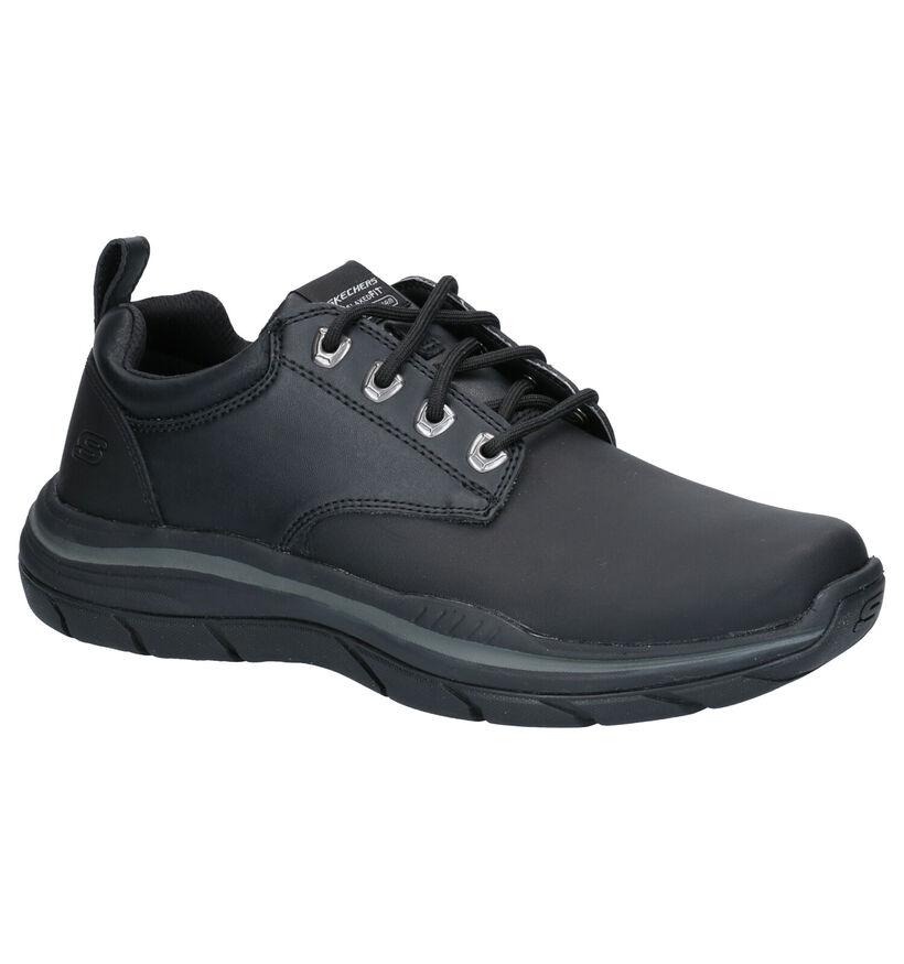 Skechers Zwarte Sneakers in kunstleer (262797)