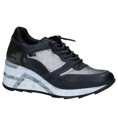 Cetti Sneakers met Sleehak Zwart in leer (229804)