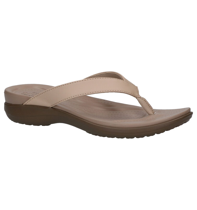 Crocs Capri Tongs en Beige en synthétique (270767)