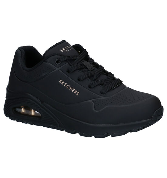 Skechers Uno Stand On Air Zwarte Sneakers