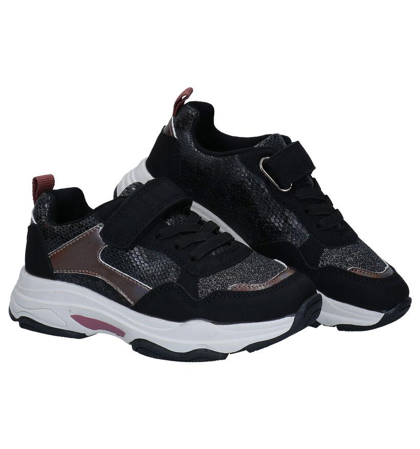 Milo & Mila Zwarte Sneakers in kunstleer (280830)
