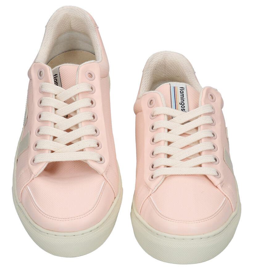 Flamingos' Life Classic 70 Ecru Sneakers in kunstleer (289027)