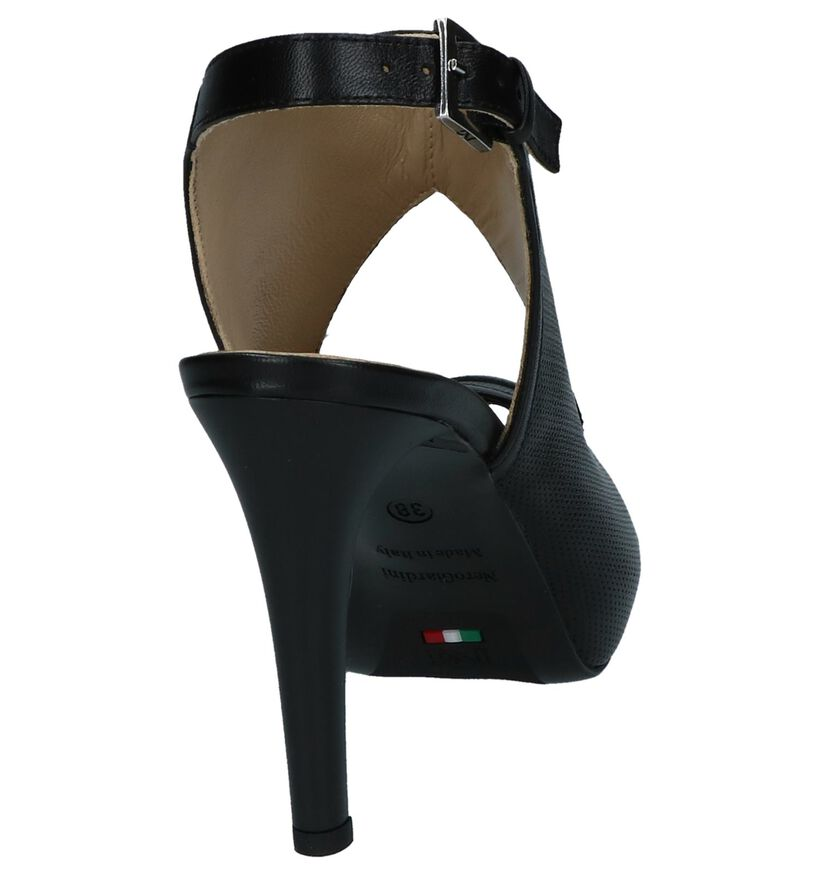 NeroGiardini Sandales à talons en Noir en cuir (240549)