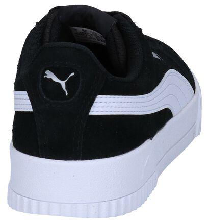Zwarte Sneakers Puma Carina in daim (253080)