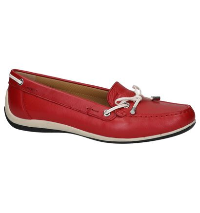 Geox Rode Mocassins, Rood, pdp