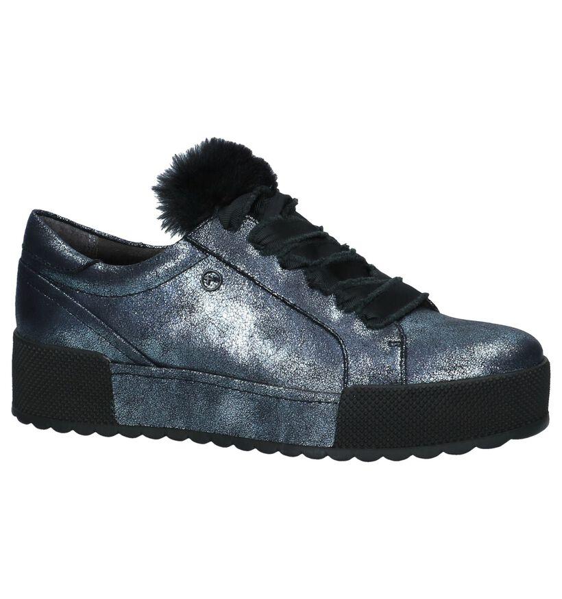 Tamaris Zilveren Sneakers met Plateau in stof (226777)