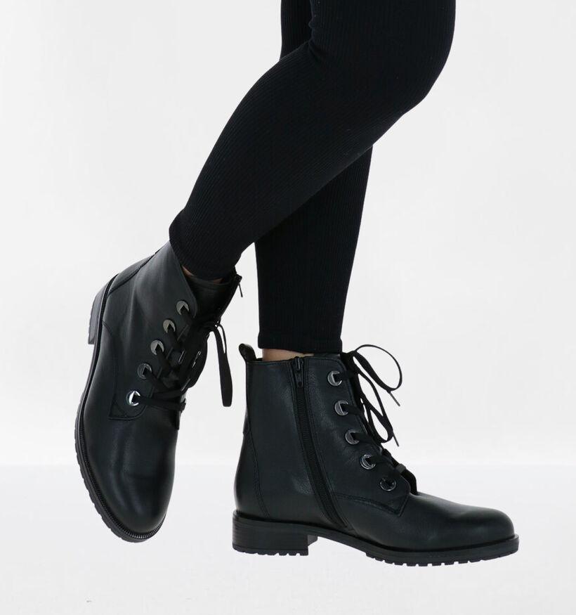 Gabor OptiFit Bottines en Noir en cuir (282302)