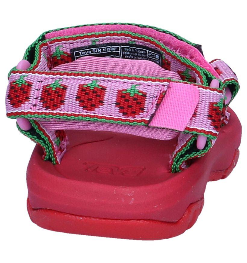 Teva Hurricane Sandales pour bébé en Rouge en textile (242160)