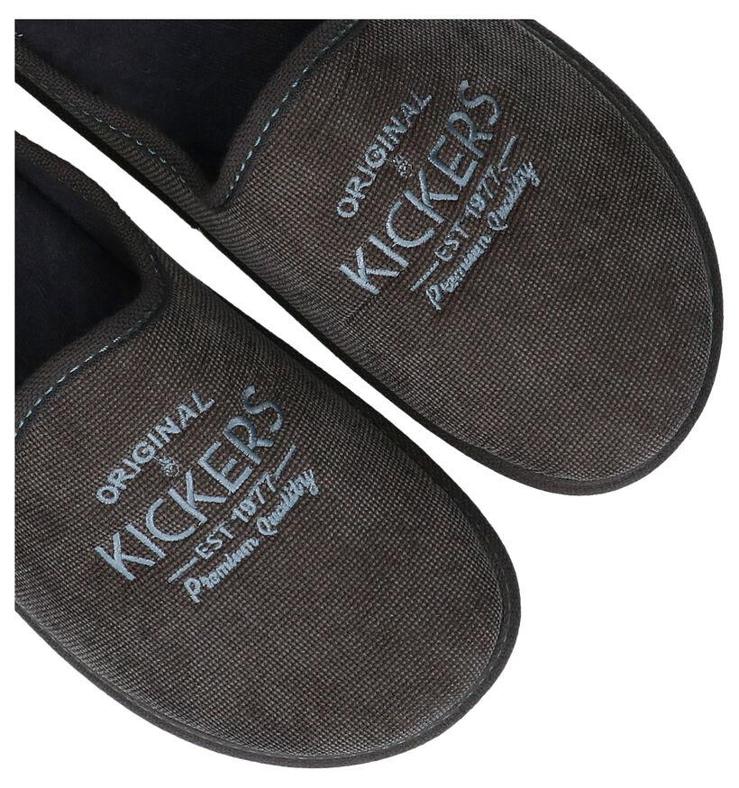Kickers Grijze Pantoffels in stof (292523)