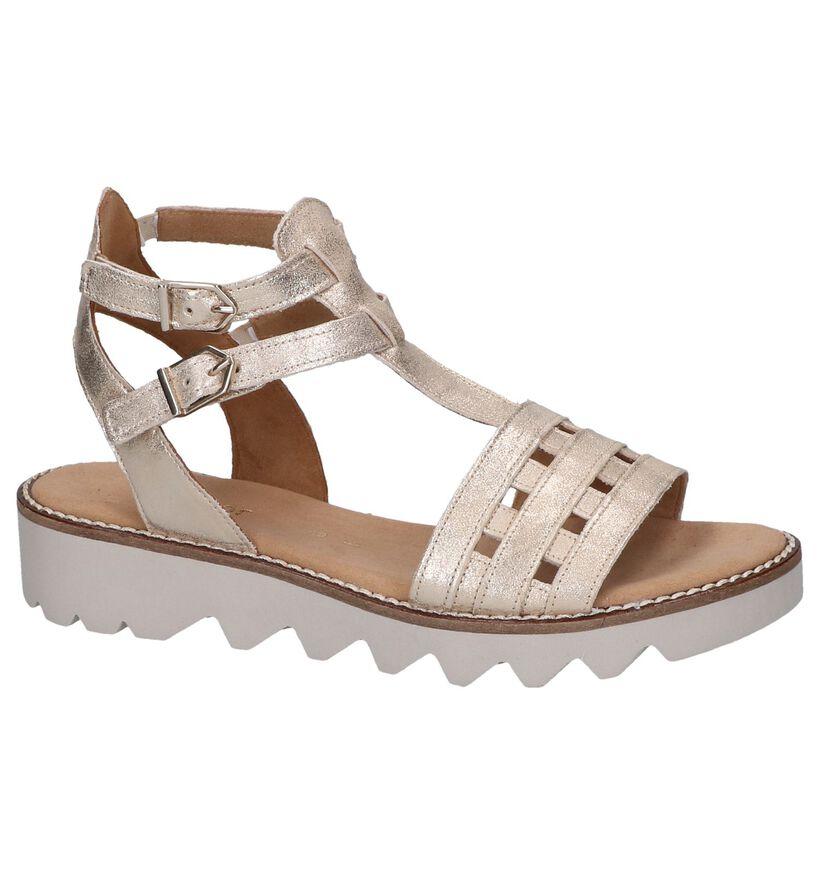 Gouden Sandalen Comfort in leer (248105)