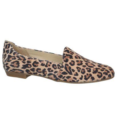 Loafers met Luipaardprint Via Limone in daim (246919)
