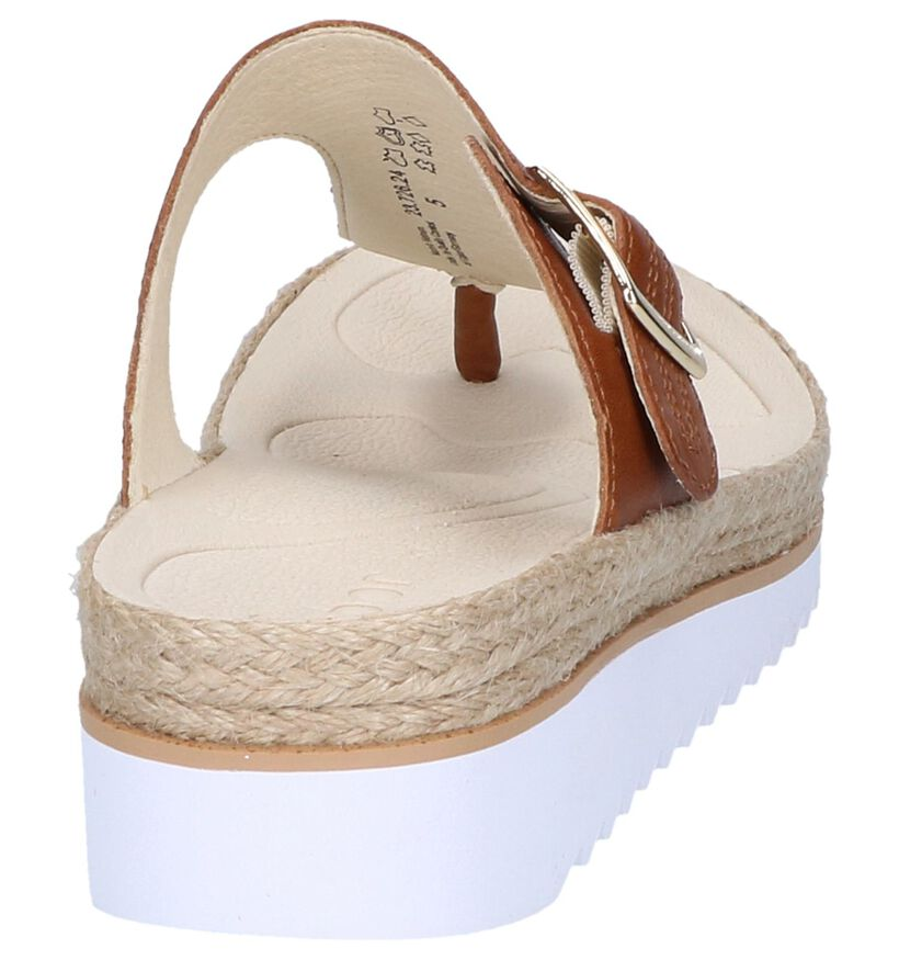 Cognac Teenslippers Gabor Best Fitting in leer (245585)