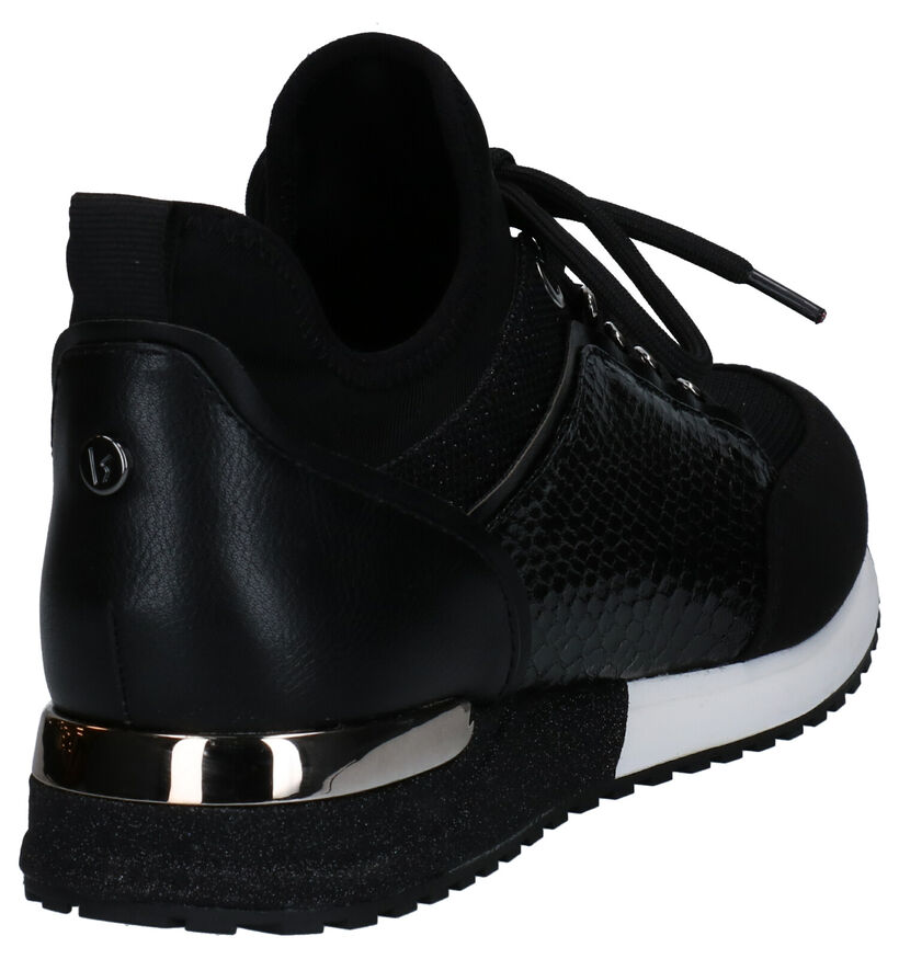 La Strada Zwarte Slip-on Sneakers in kunstleer (277874)