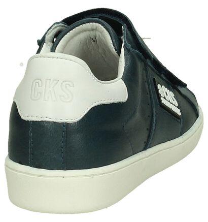 Donker Blauwe Velcro Sneakers Cks Cobrie, Blauw, pdp