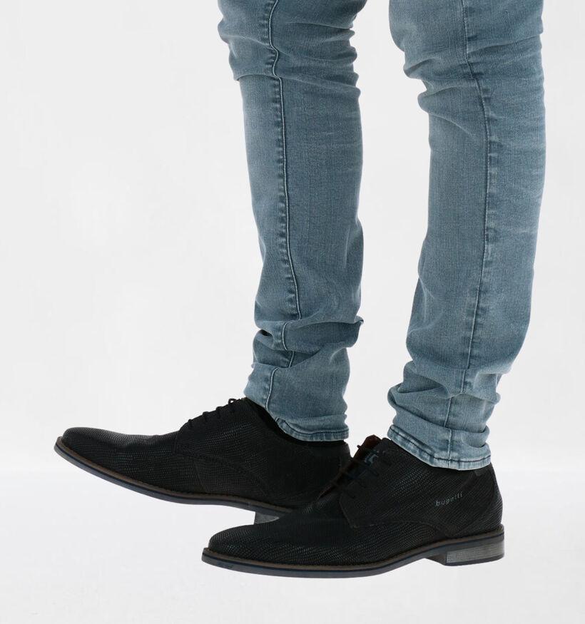 Bugatti Gagno Chaussures à lacets en Noir en cuir (281779)