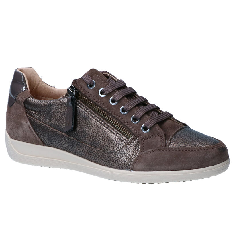 Geox Chaussures à lacets en Marron en cuir (263613)