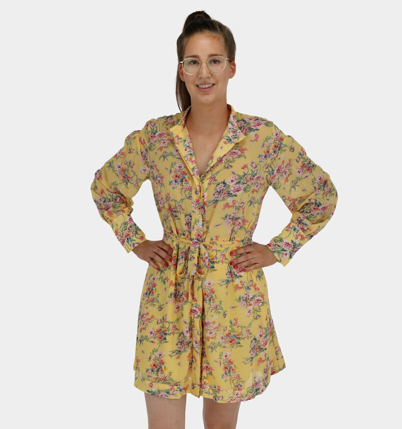Lofty Manner Dana Robe Chemise en Jaune (280819)