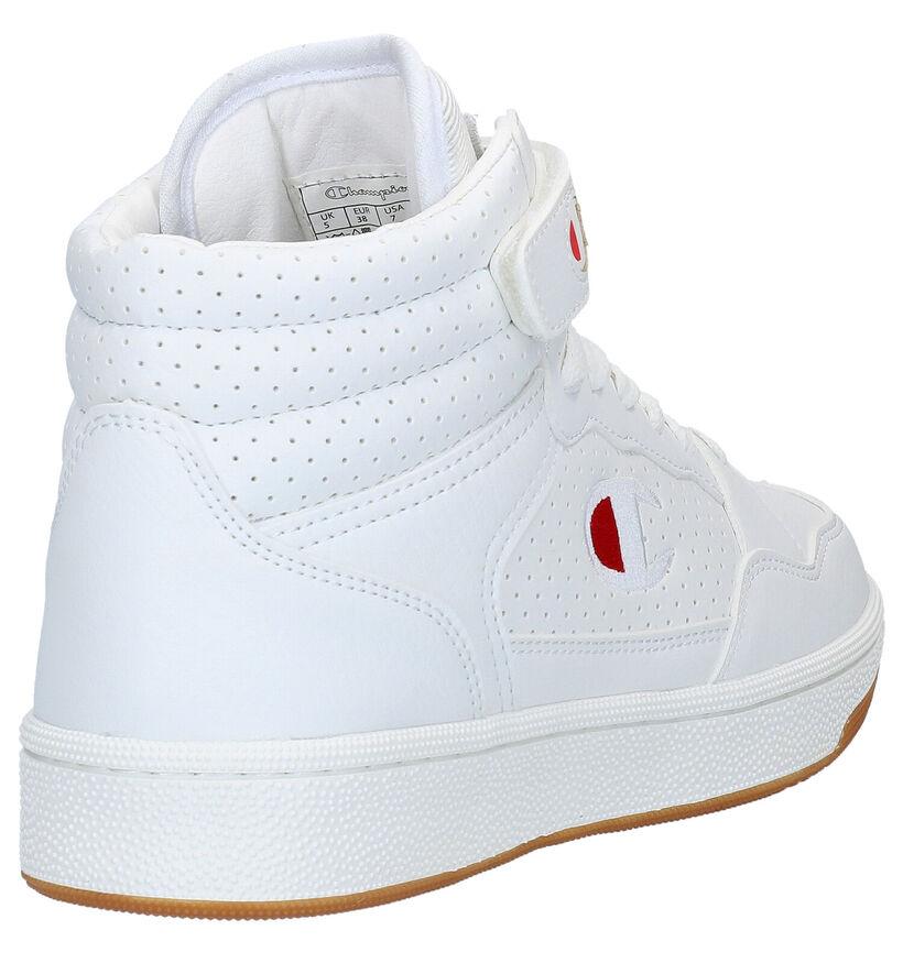Champion Palm Lake Mid Witte Sneakers in kunstleer (278588)