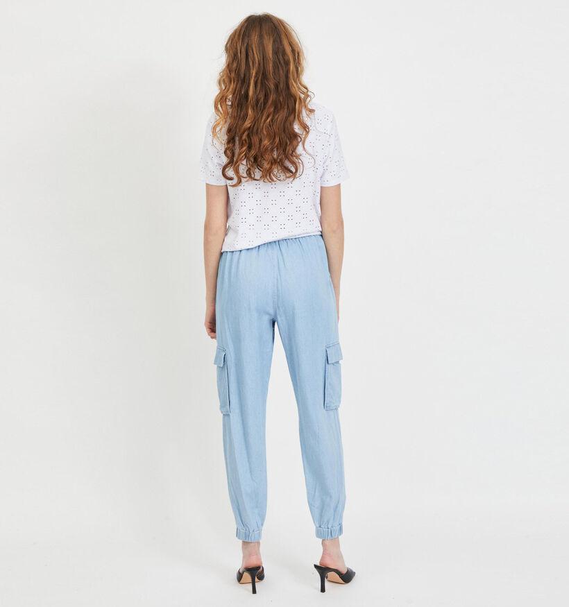 Vila Jeans Cargo en Bleu (293189)