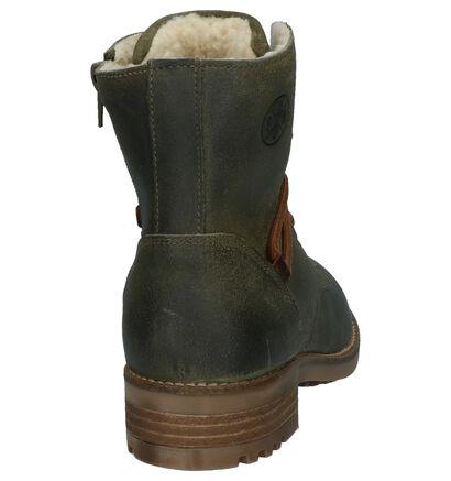 Bullboxer Kaki Boots met Rits/Veter, Groen, pdp