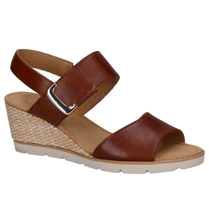 Gabor Gouden Sandalen in leer (271632)