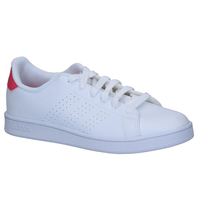 adidas Advantage Witte Sneakers in kunstleer (252507)