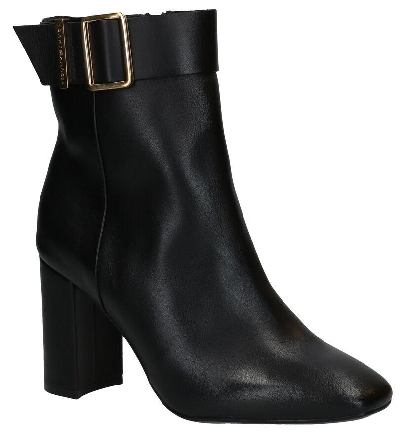 Tommy Hilfiger Basic Square Toe Bottillons en Noir en cuir (279982)