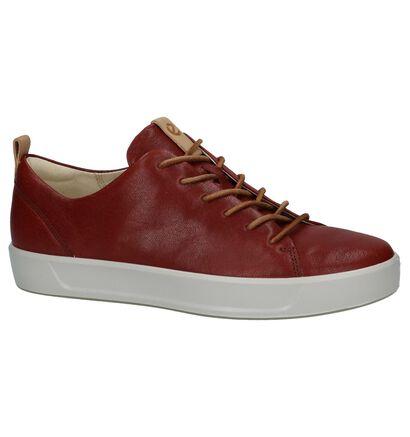 ECCO Soft 8 Chaussures à lacets en Gris foncé en cuir (235722)