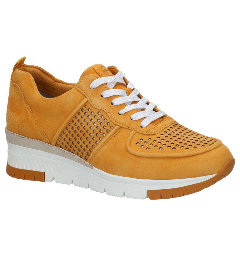 Tamaris Pure Relax Gele Sneakers in daim (265691)