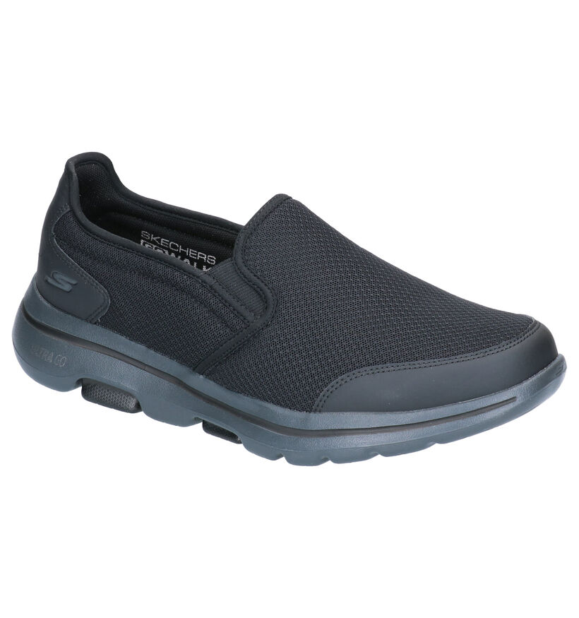Skechers Go Walk 5 Baskets slip-on en Noir en textile (272829)
