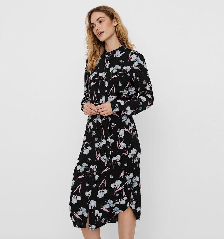 Vero Moda Rosalita Zwarte Hemdjurk