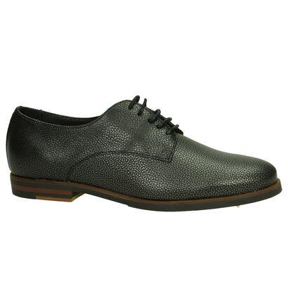 Via Roma Chaussures à lacets en Gris foncé en cuir (206142)