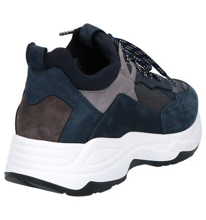 NeroGiardini Blauwe Sneakers in leer (259953)