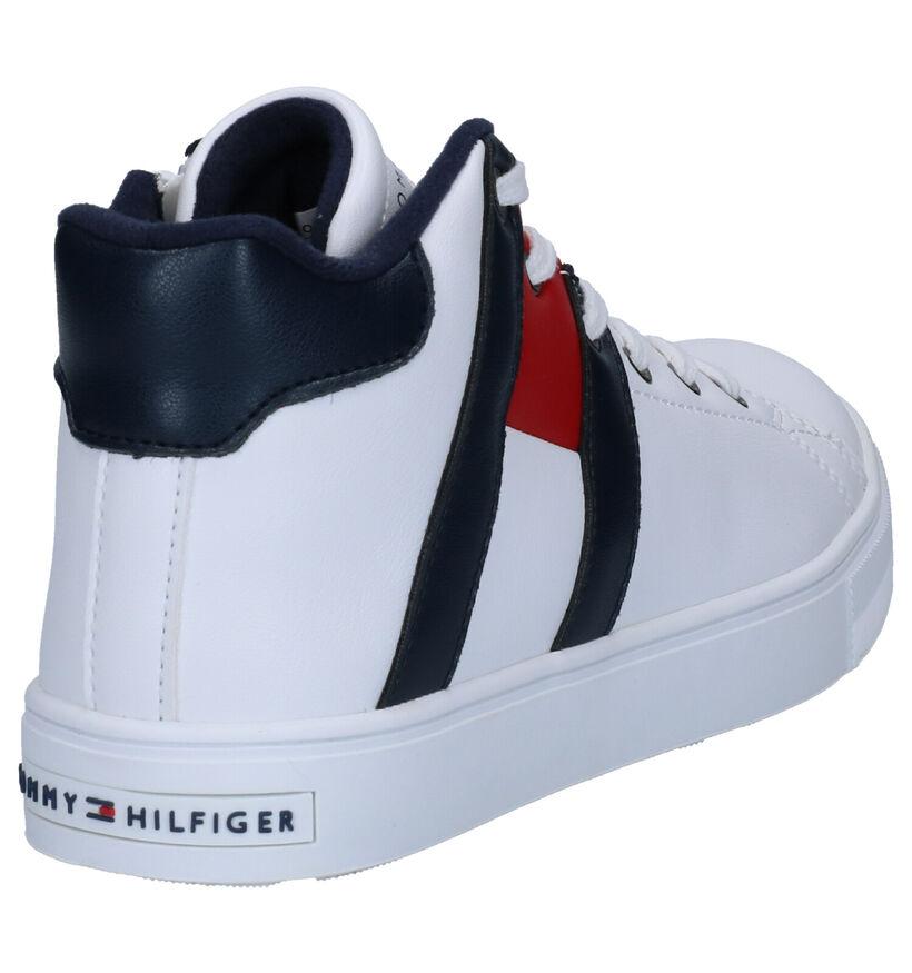 Tommy Hilfiger Blauwe Sneakers in kunstleer (257344)