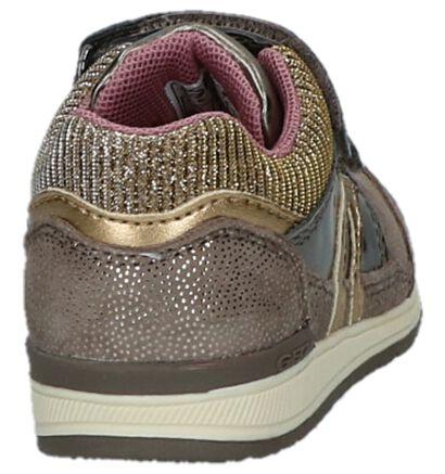Geox Chaussures basses en Taupe en imitation cuir (223118)