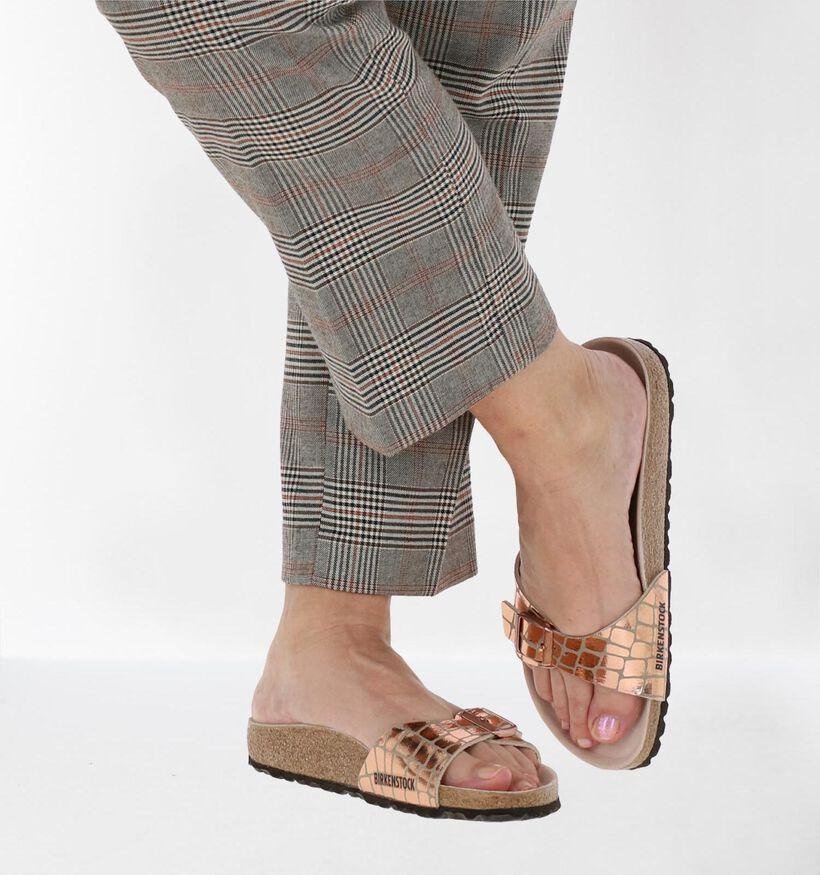 Birkenstock Madrid Rose Golden Slippers in kunstleer (271280)