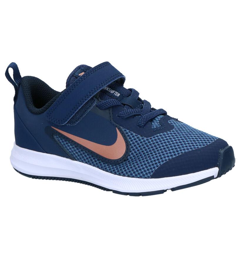 Nike Downshifter 9 PS Baskets en Bleu en textile (261657)