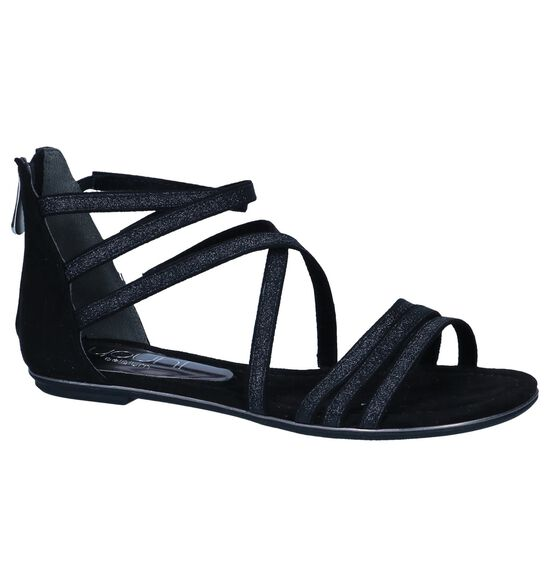 Youh! Sandales plates en Noir
