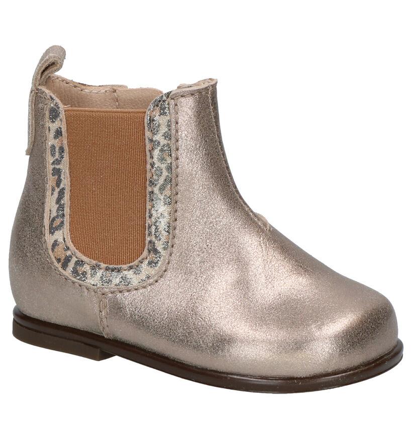 Beberlis Gouden Hoge Schoentjes in nubuck (258920)
