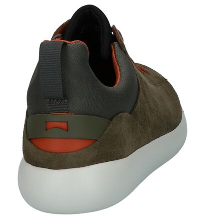 Kaki Geklede Sneakers Camper Capsule in daim (226153)
