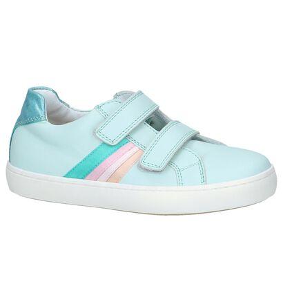 STONES and BONES Chaussures basses en Bleu clair en cuir (240712)
