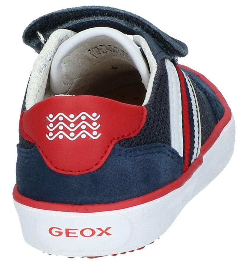 Geox Chaussures basses en Bleu foncé en textile (237941)