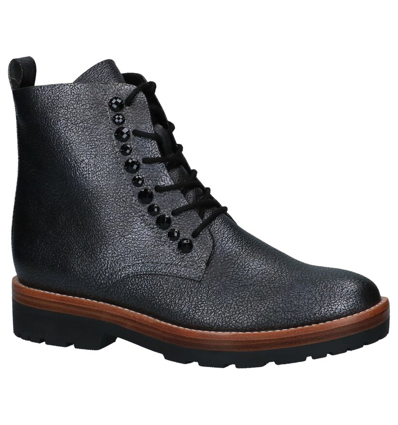 Grijze Metallic Boots Marco Tozzi in kunstleer (226311)