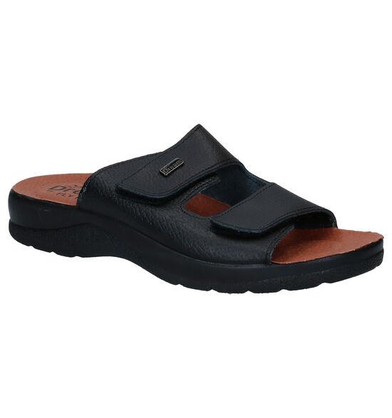 Fly Flot Zwarte Slippers