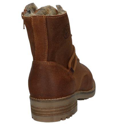Bullboxer Kaki Boots met Rits/Veter, Cognac, pdp